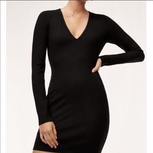 Aritzia Wilfred Free Rocio Dress Black